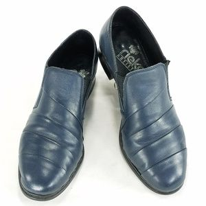 Rieker Antistress Leather Slip On Loafer Shoes